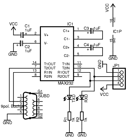 Maxim MAX232CPE TTL to RS232 - Tronixlabs Australia