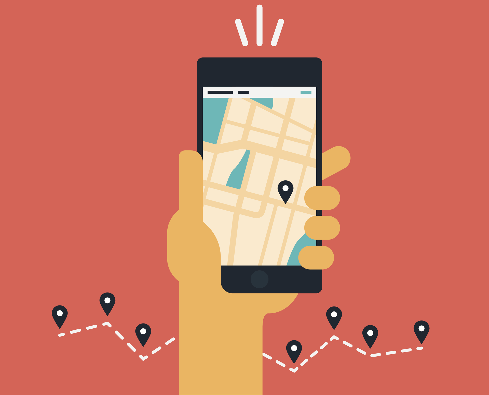 Location mobile smartphone