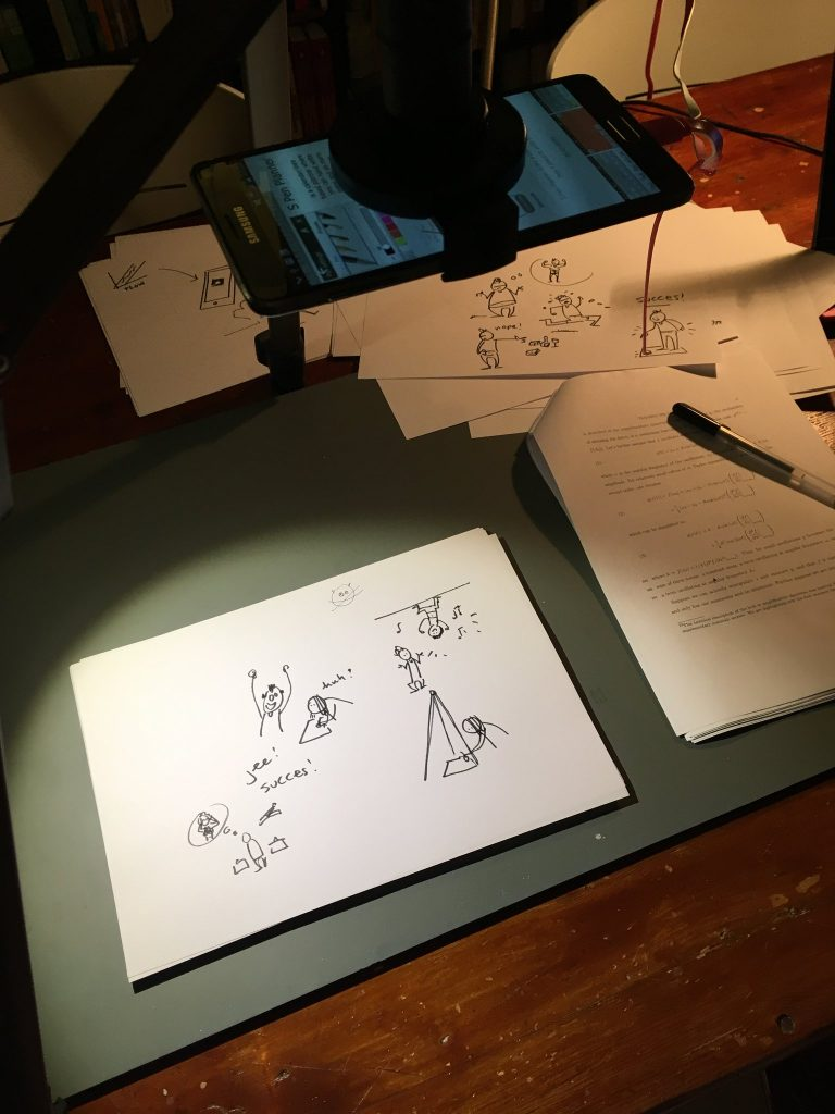 Our DIY whiteboard animation equipment proved a great success :)